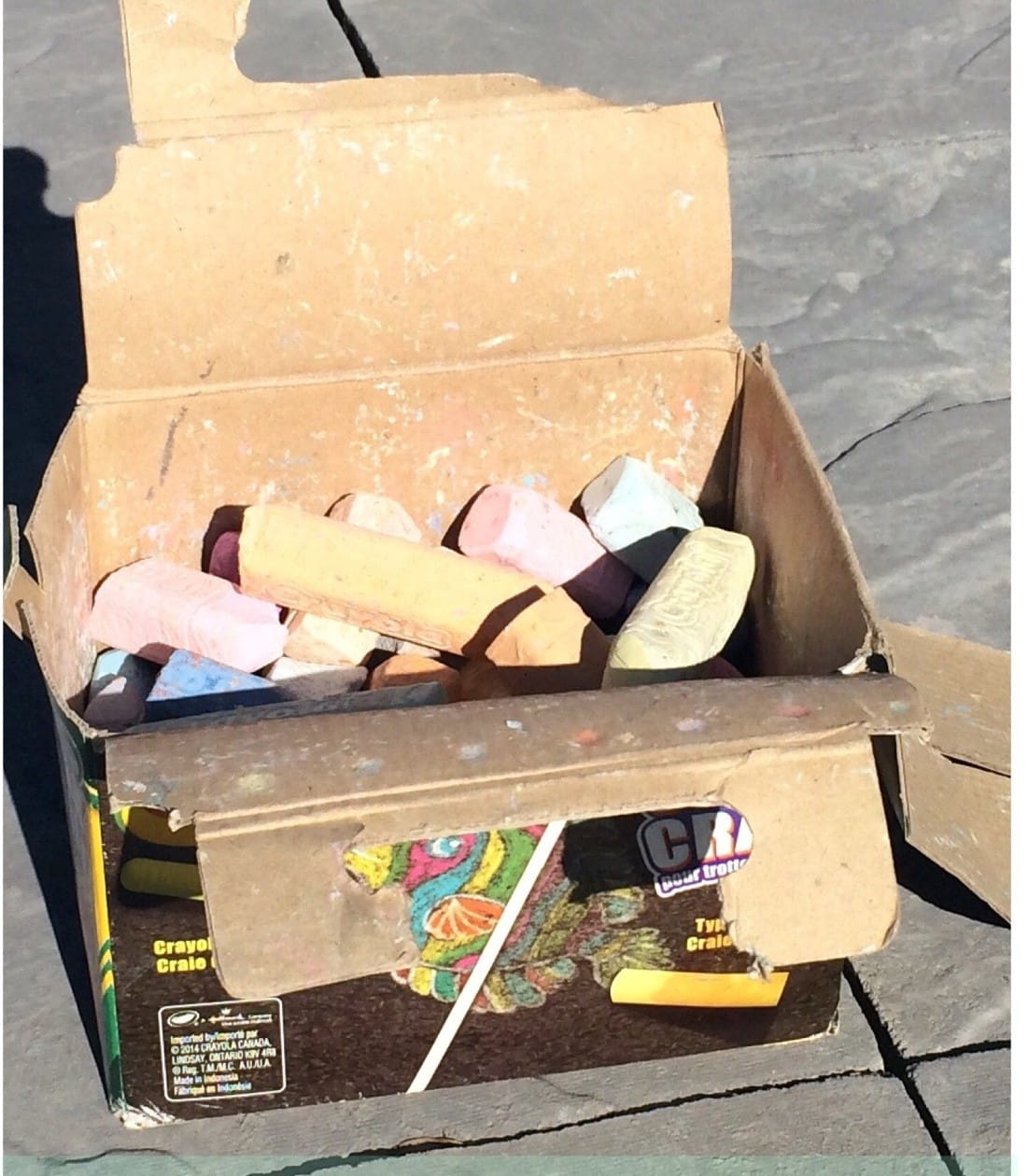 Coloured Cloud Dough: How to Upcycle A Broken Box Of Chalk