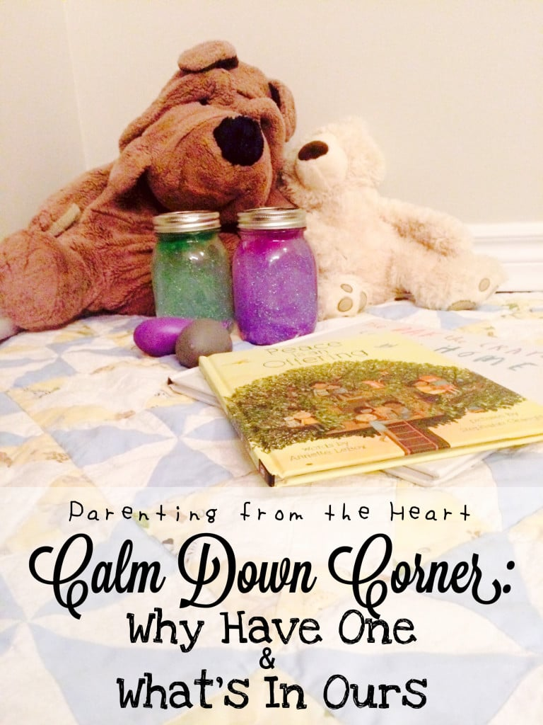 Why have a calm down corner and how do calm down corners differ from time-outs? Find out the benefits of this positive parenting strategy and easy way to set one up in your home!