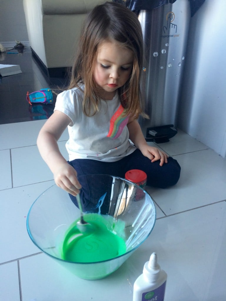 A fine motor, sensory, hand-eye coordination activity