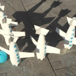 DIY Airplane Bowling Pins
