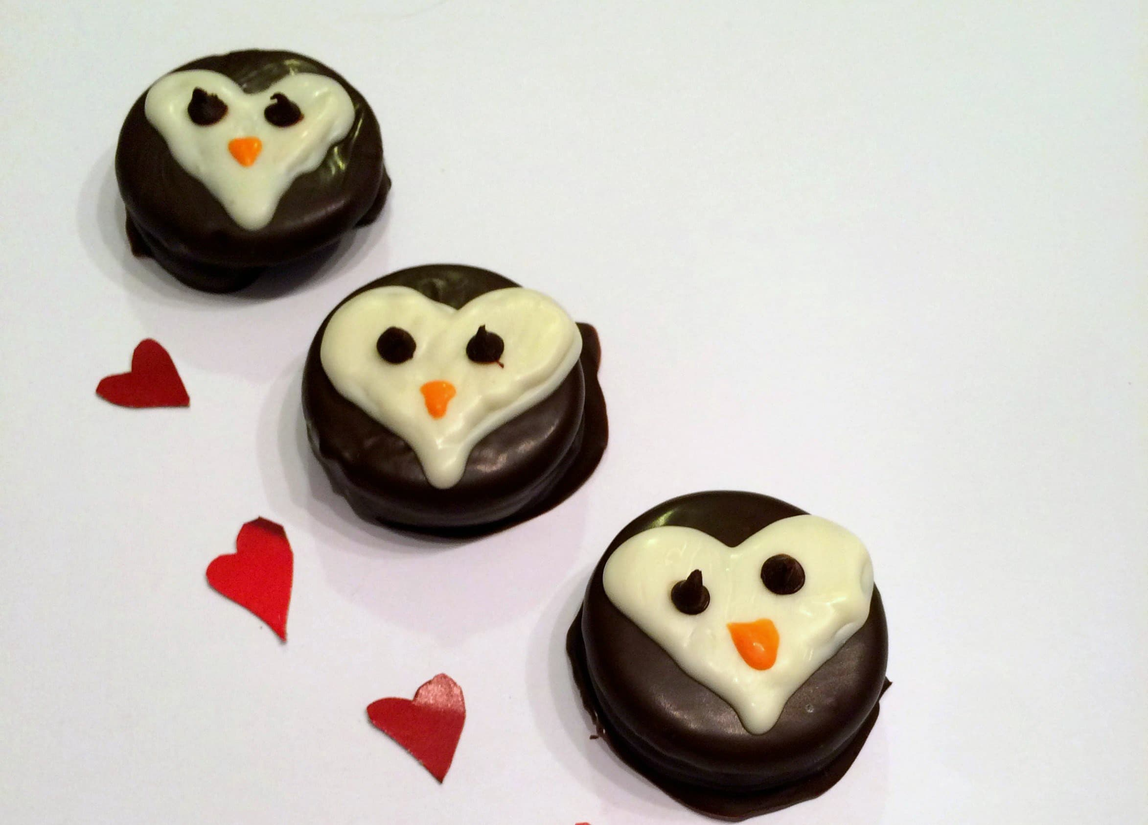 Heart Penguin Cookies