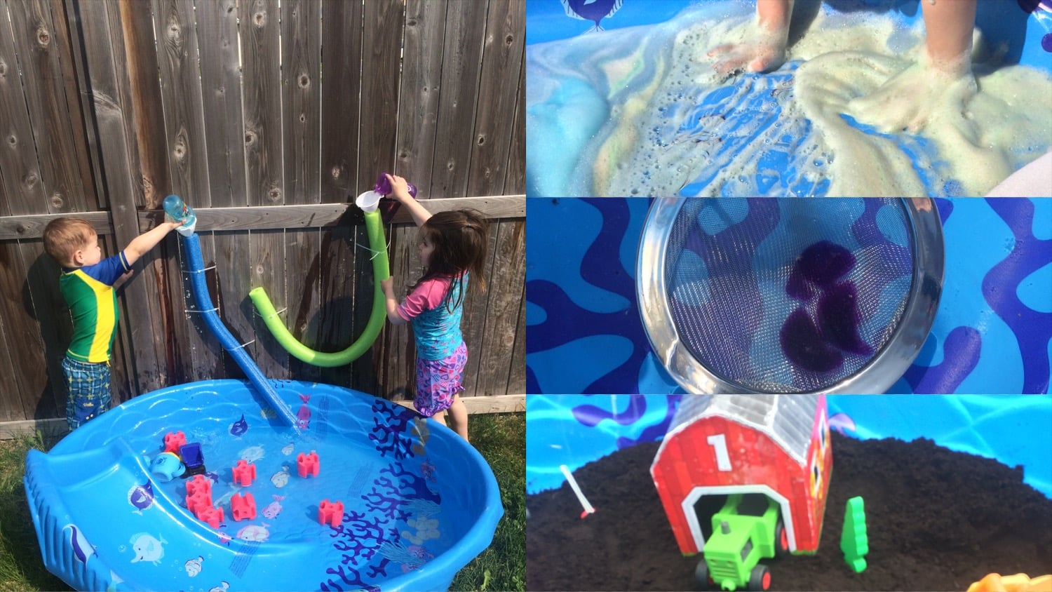 5 Kiddie Pool Sensory Play Ideas