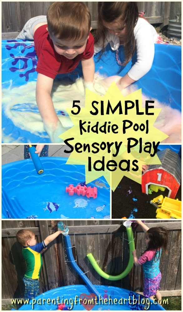 Make your backyard a sensory experience with these easy, budget-friendly kiddie pool sensory play ideas. All ideas are under $5 and all ideas are guaranteed to promote play-based learning. Again, super simple, easy, and fun ideas!