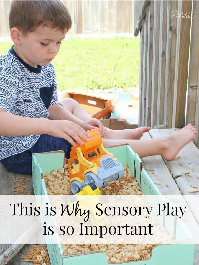 Sensory play can seem like a whole lot of mess in the name of frivolous play. Inside I will share the research behind why sensory play is so important as well as tips to contain the mess, execute simple sensory play ideas and more. #sensoryplay #kidsactivities #simplekidsactivites #kidscrafts #kindergarten #earlychildhoodeducation #screenfreeactivities #playbasedlearning #handsonlearning #learningthroughplay