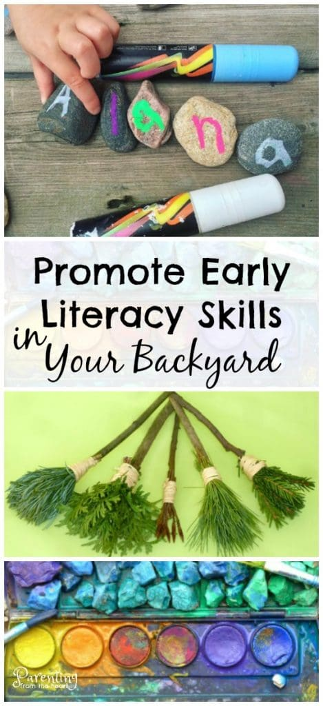 Backyard learning is easy, cost effective and SO much fun!!! In fact your children will benefit more from backyard learning than sitting at a desk with a paper and pencil. Promote early literacy, fine motor skills, hand-eye coordination and more using these kids activities. Great for play-based learning. Learning through play. Early childhood education.