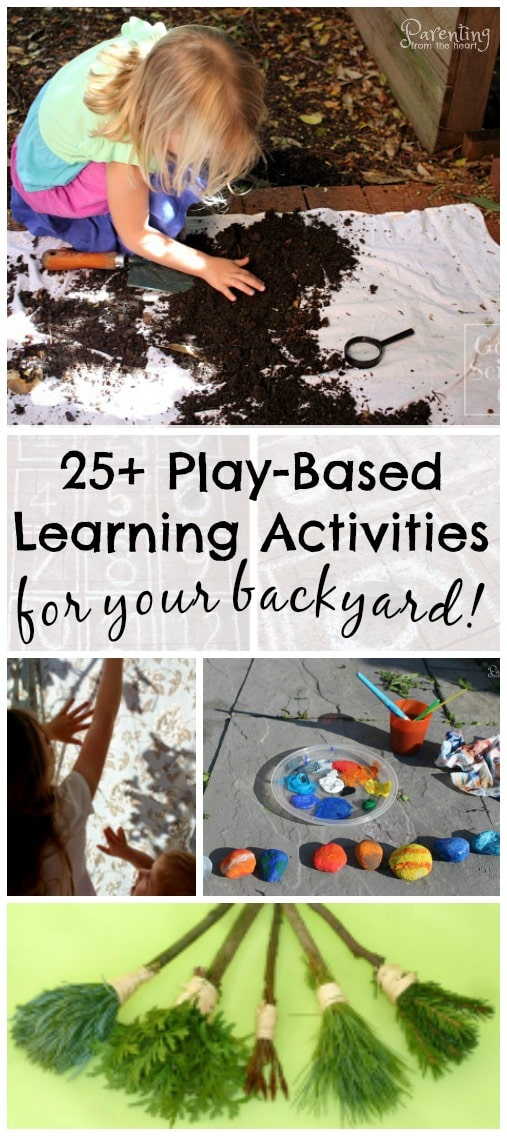 Backyard learning is easy, cost effective and SO much fun!!! In fact your children will benefit more from backyard learning than sitting at a desk with a paper and pencil. Promote numeracy, addition, subtraction, multiplication, geometry, and symmetry using these kids activities. Great for play-based learning. Learning through play. Early childhood education. Parenting from the Heart. Play-based learning