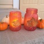 Easy Fall Lantern Mason Jars
