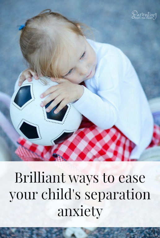 Dealing with separation anxiety in kids is hard on both the child and the parent. It feels terrible to see your child cry and have to leave them. Here you will find brilliant strategies to ease separation anxiety and empower your child. #separationanxiety #Parenting #parentingfromtheheart #positiveparenting #positivediscipline #attachment #parentingtoddlers #parentingyoungkids