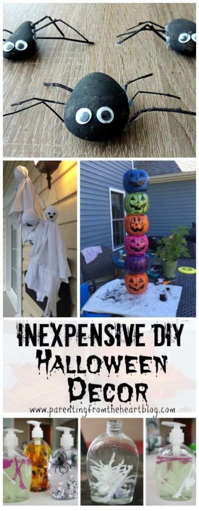 Make easy inexpensive Halloween decor with these great ideas! They are all kid-friendly and will surely wow your neighbours!