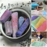 At the end of the summer, we are left with a lot of broken down chalk. There are sensory play ideas, kids arts and crafts, STEM, STEAM, and so many more perfect for play-based learning.