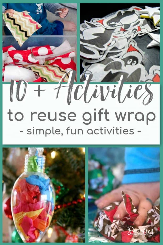 Reuse gift wrap with these simple kids activities