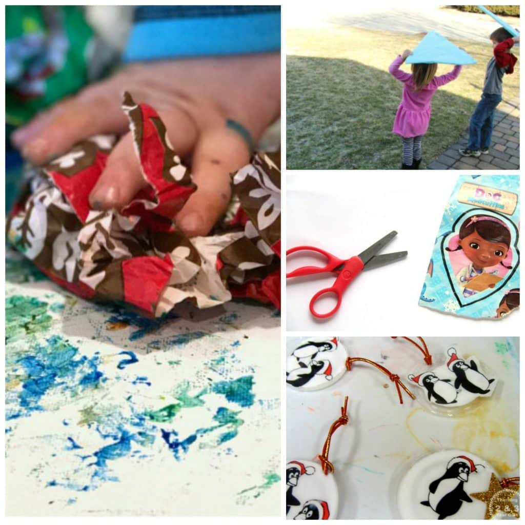 Kids Activities to Recycle and Reuse Wrapping Paper