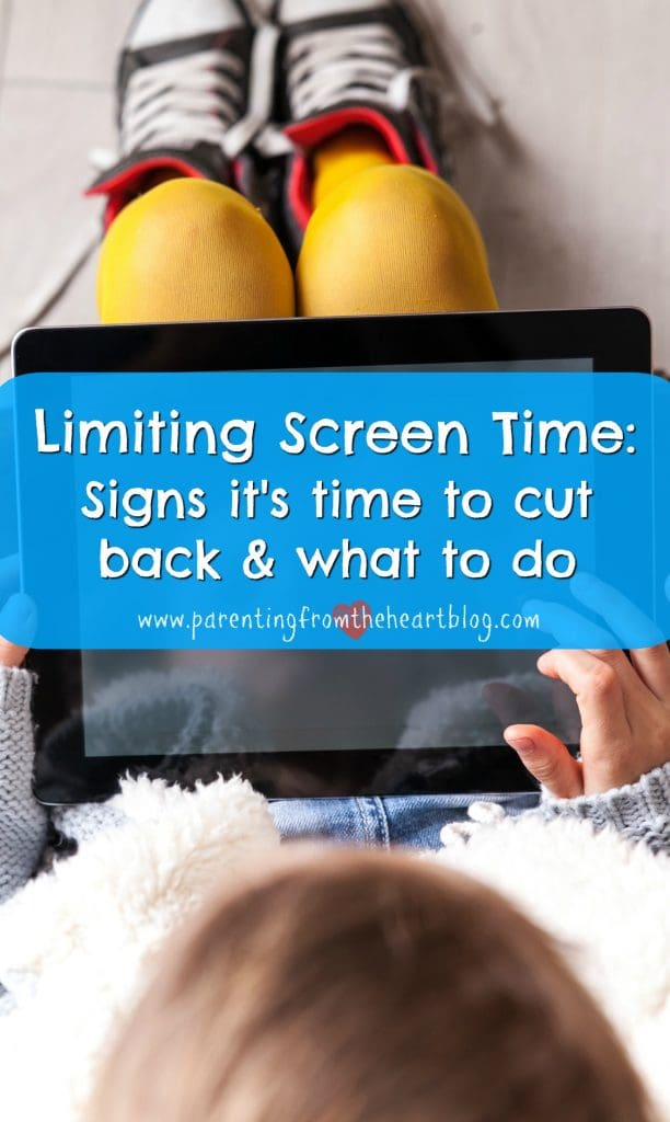When should you be limiting screen time. What are the signs you and your child are engaging in too much screen time and what can you do about it. What are the consequences of too much screen time in kids? Find screen-free activities, what research says about screen time and more!