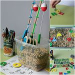 Fishing Sight Word Sensory Bin