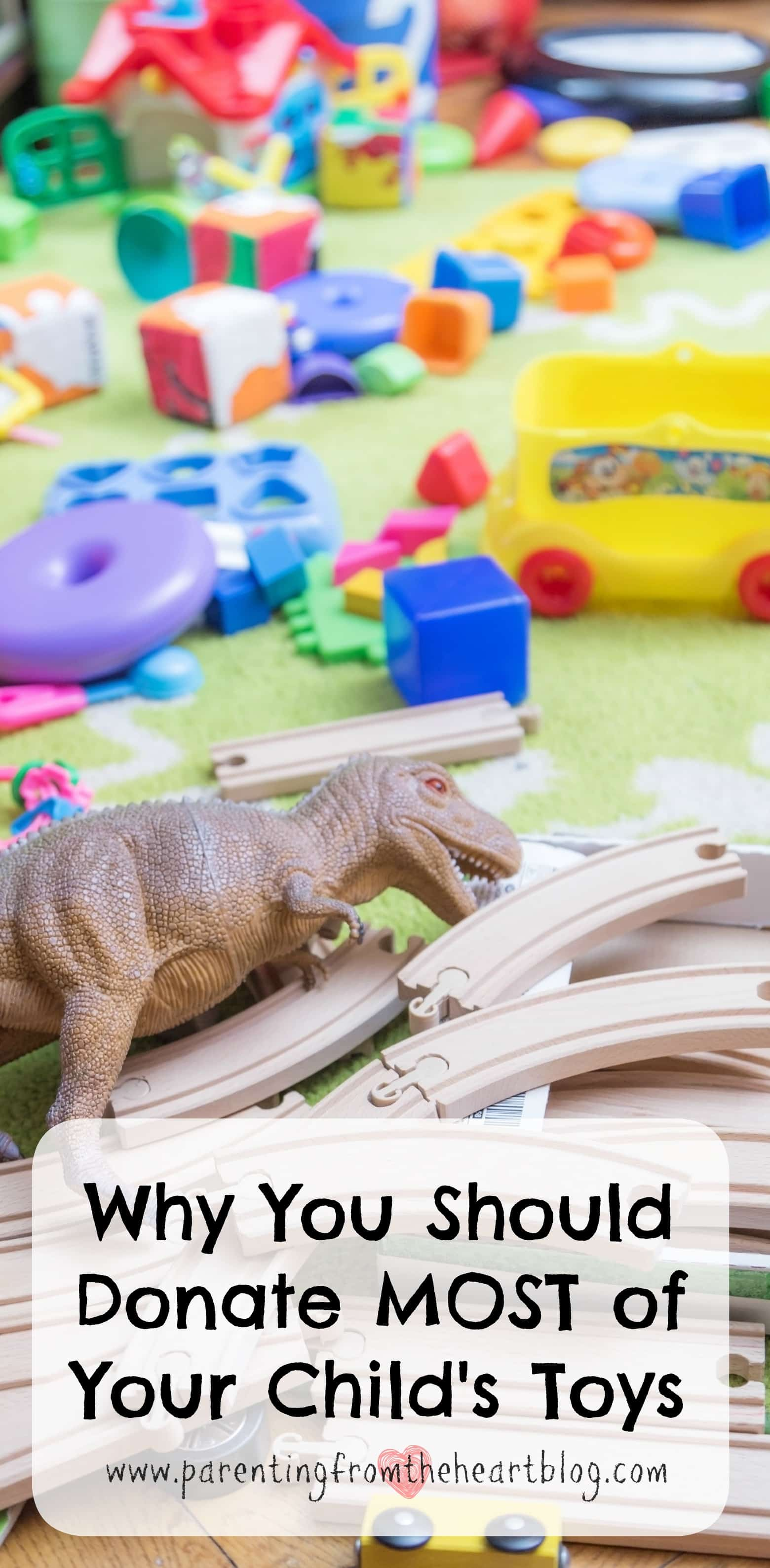 Should you get rid of most of your kids toys? You'll want to click through to find out what research has found. Also, find strategies to get your kids to clean up, involve them in donating toys, and more!