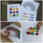 Download these awesome Rainbow activity printables and get bonus material! These activities promote fine motor skills, hand eye coordination, colour, word, and letter recognition and more!