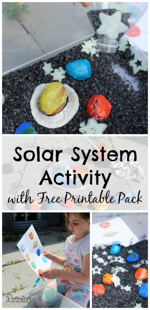 Promote play-based learning with this fun solar system for kids activity! It comes with a free printable as well as bonus materials for more ways to play! Perfect for preschoolers, kindergarteners, or any early childhood educators!