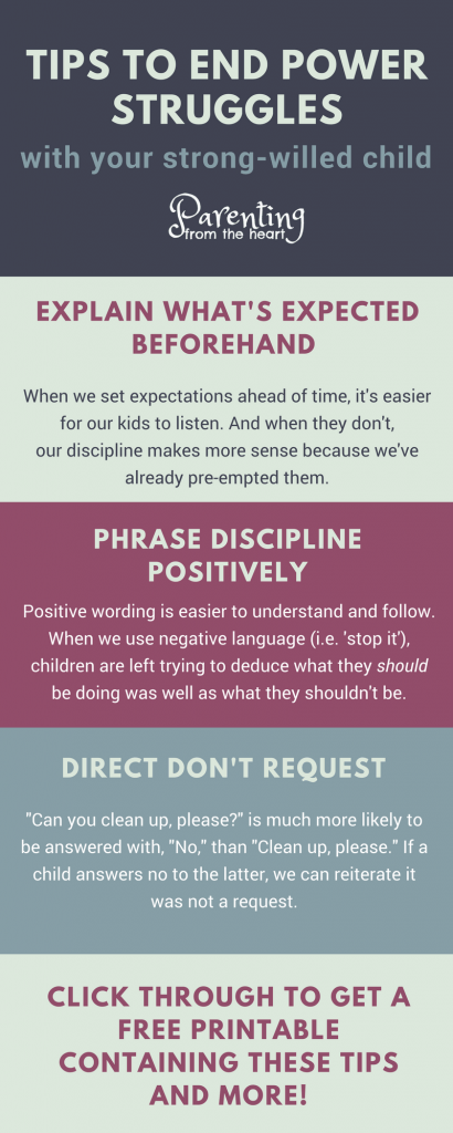 A strong-willed child is both an incredible gift and an incredible challenge. Namely, getting a strong-willed child to cooperate is no easy feat. Find excellent positive parenting strategies to diminish power struggles and get your strong-willed child to listen and listen well. Parenting from the Heart