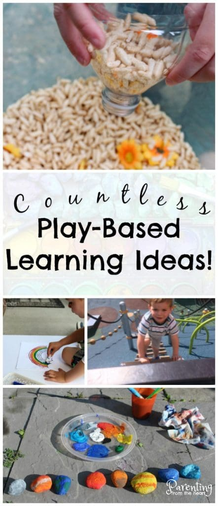 Facilitate play-based learning at home or in your classroom with these wonderful resources. Includes tips on how to build on your child's play, why play-based learning and sensory play are important, and loads of simple kids activities to promote learning through play!