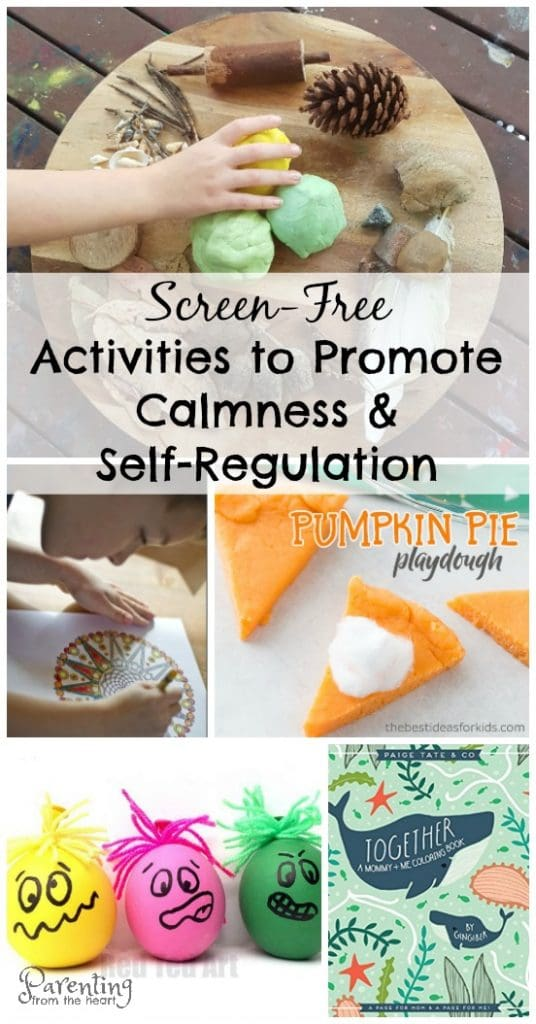 After school is your child overstimulated and overtired? Find simple, powerful activities and strategies to calm your child. Play-based learning ways to promote self-regulation and calmness in kids.