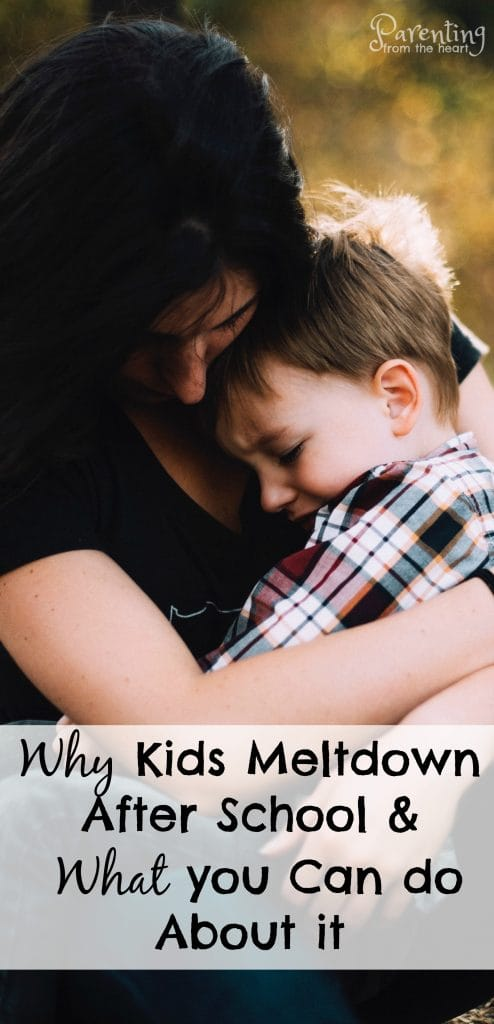 When you pick your child up from school, does your child meltdown? Don't worry. This is totally normal. Find out why self-regulation is so hard for children and simple, powerful strategies to promote calmness. Positive parenting. parenting from the heart