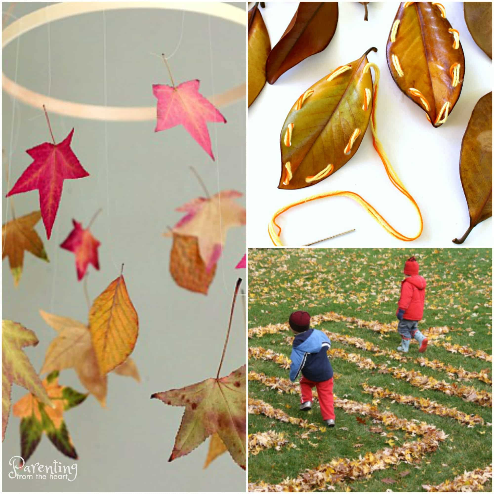 Gorgeous Fall Crafts for kids using leaves