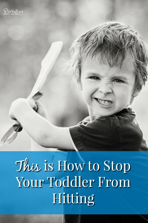 When your toddler hits mom, dad or the baby for the first time, it is shocking. Fortunately, there are effective strategies to stop toddler hitting without using punishment. #parentingtoddlers #toddlerhitting #toddlers #parenting #positiveparenting #positivediscipline #parentingfromtheheart #momlife