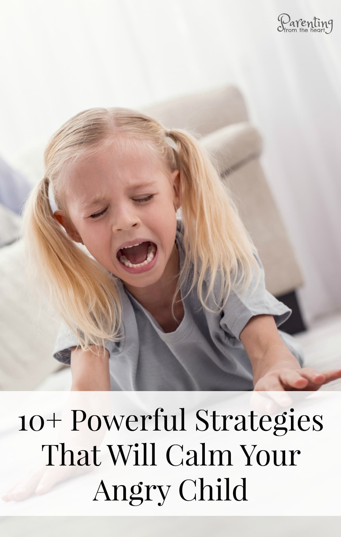 You'll be surprised by these strategies to calm an angry child or a child in the middle of a meltdown. Rooted in positive parenting, these strategies help during time ins and on the go. #positiveparenting #parenting #parentingtips #parentinghacks #momlife #parentingtoddlers #tantrums #kids #children