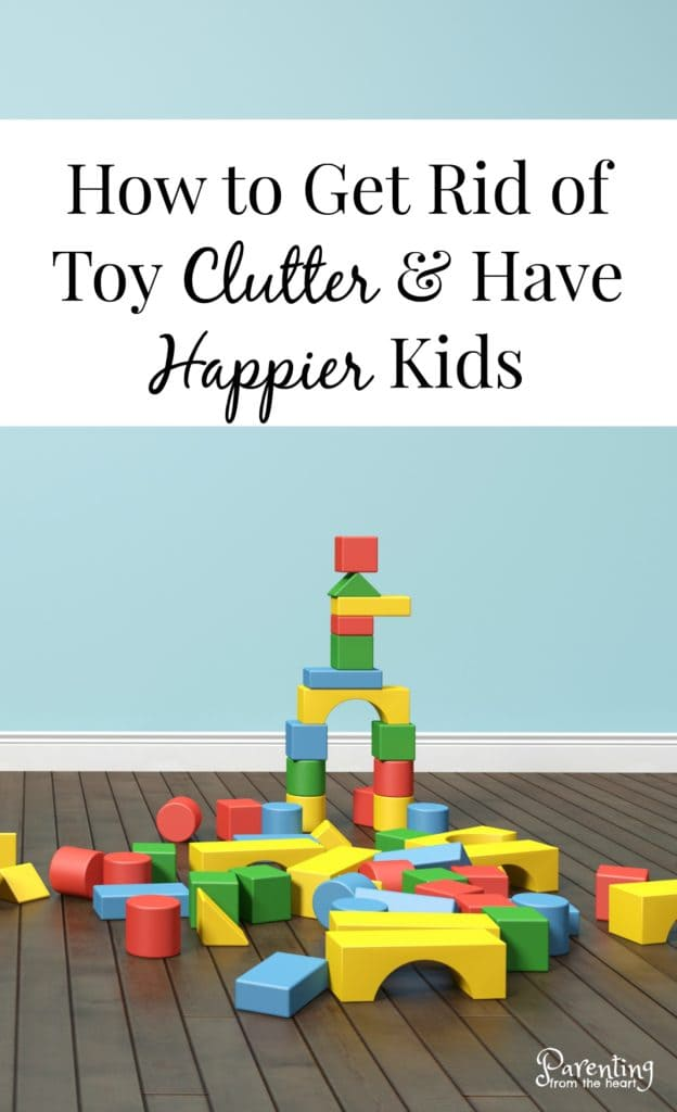 Our home has been consumed by toy clutter. Find out how minimizing and rotating toys creates happier more creative children. Parenting from the Heart. #minimizetoys #toomanytoys #happierkids #parenting #donatingtoys #parentingfromtheheart