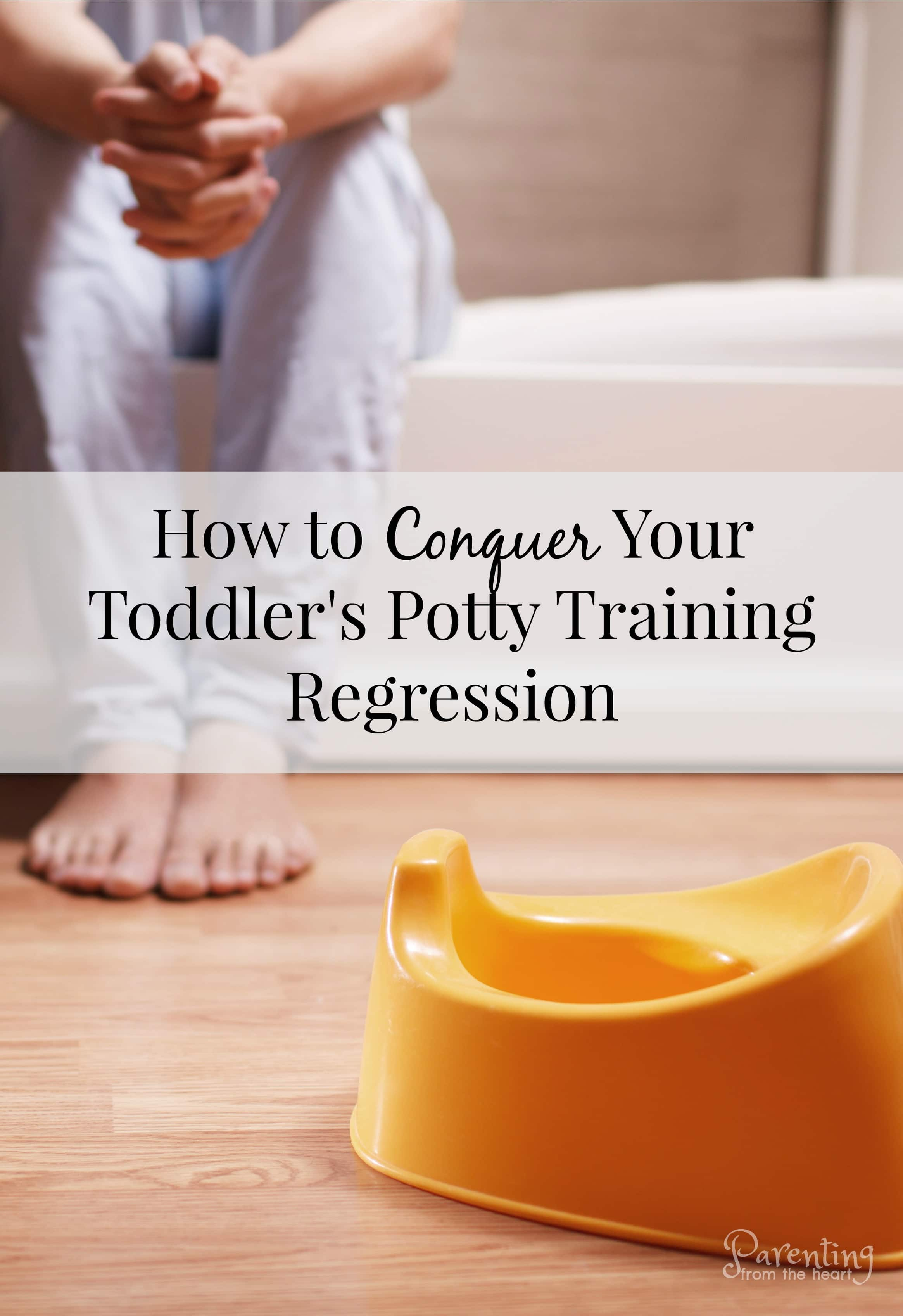 As a parent, it is such a proud moment when your toddler starts potty training and has success. With many children, it starts off well, but there is a potty training regression. Whether your child is a toddler, a three-year-old or four-year-old, there are practical strategies here to help through the most frustrating potty training issues. #pottytraining #pottytrainingregression #parentingtoddlers #parenting #toddlers #positiveparenting
