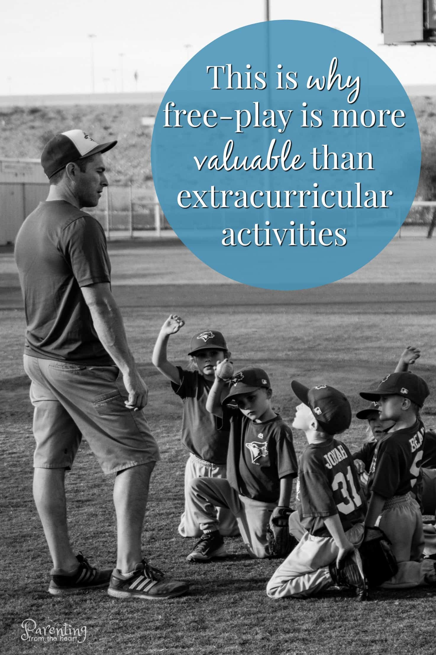 When summer hits, naturally parents want to avoid the summer slide. We want to schedule enough summer activities so that our children are challenged and go back to school ready. While all of this is done with the best of intentions, free play is more beneficial than most of these extracurricular activities for kids. This is why. #parenting #kidsactivities #extracurricularactivites #activities #summer #summertime #parentingfromtheheart #playbasedlearning #learningthroughplay