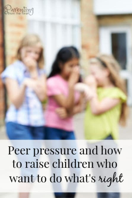 As parents, we know our children will face peer pressure and other temptations. Find out what research says is the best way to raise children who want to do right. #peerpressure #tweens #teens #parenting #positiveparenting #positivediscipline #parentingtips #lifelessons #kids