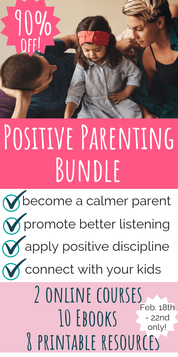 The Positive Parenting Bundle. Become a calmer parent, promote better listening, apply positive discipline, and connect with your kids. $375 worth of resources for $29.99