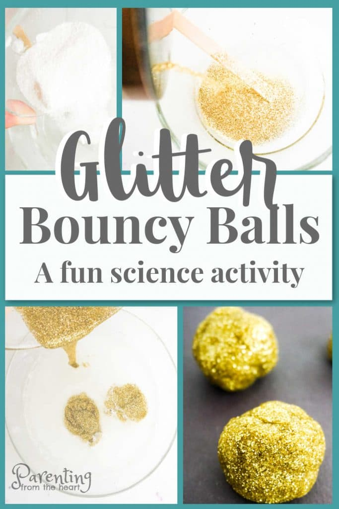 If your child is slime-obsessed, you will want to check out this spin how to make slime. While the ingredients are the same, the result is different and exciting! Here you will learn how to make bouncy balls. This simple kids activity is perfect for hands-on learning to teach children about chemical reactions. #science #kidsactivities #simpleactivities #STEM #slime